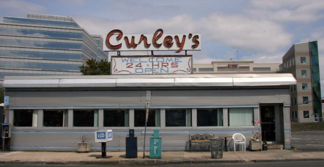 Curley's diner fronts the alive at five stamford concert